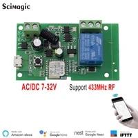EWelink     commutateur Wifi intelligent  Module de relais  minuterie DC 5V 12V 24V 32V  telecommande sans fil  insing auto-verrouillage  Alexa Google home