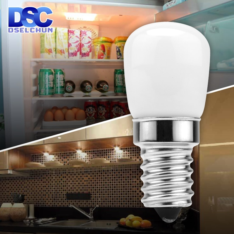 LED Fridge Light Bulb E14 3W Refrigerator Corn bulb AC 220V LED Lamp White/Warm white SMD2835 Replac