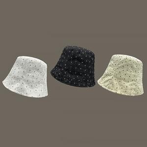 2021 New Arrive Lace Sun Flower Bucket Hats Outdoor Multi-layer Daisy Fisherman's Hats For Women Fahion Korean Style