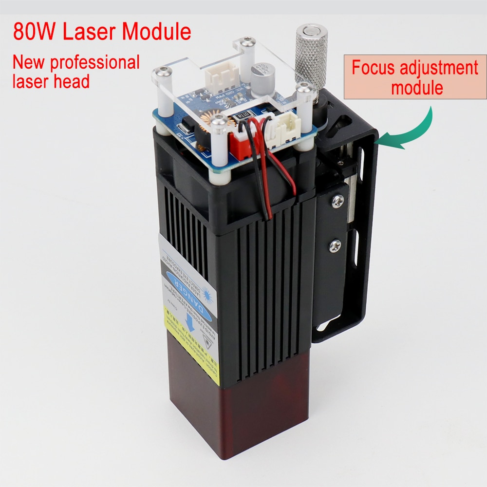 High power 80W laser module laser head, Professional cutting module, cutting 8mm plywood one pass, With regulator, wood tools