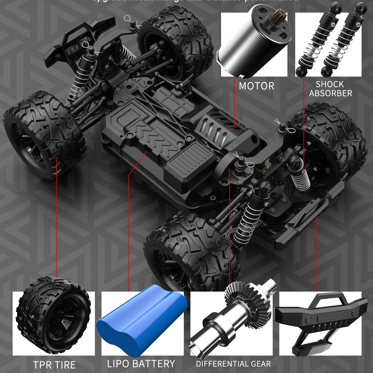 1:18 High Speed Remote Control Vehicles 4WD Professional Fast RC Cars for Adults Trucks Off Road 4x4 Toys Kids Boy Electric Car enlarge