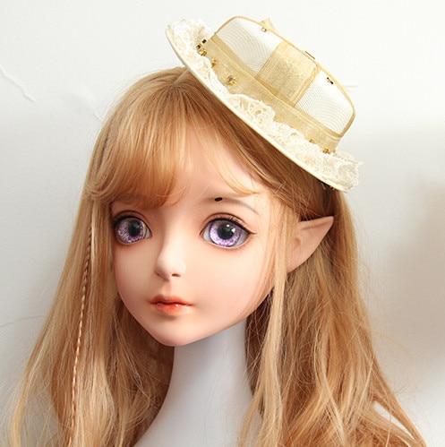 (Dollkii 08) feminino menina resina de silicone cosplay bjd cruz vestir kigurumi cabeça máscara anime rpg play festa crossdresser boneca máscara