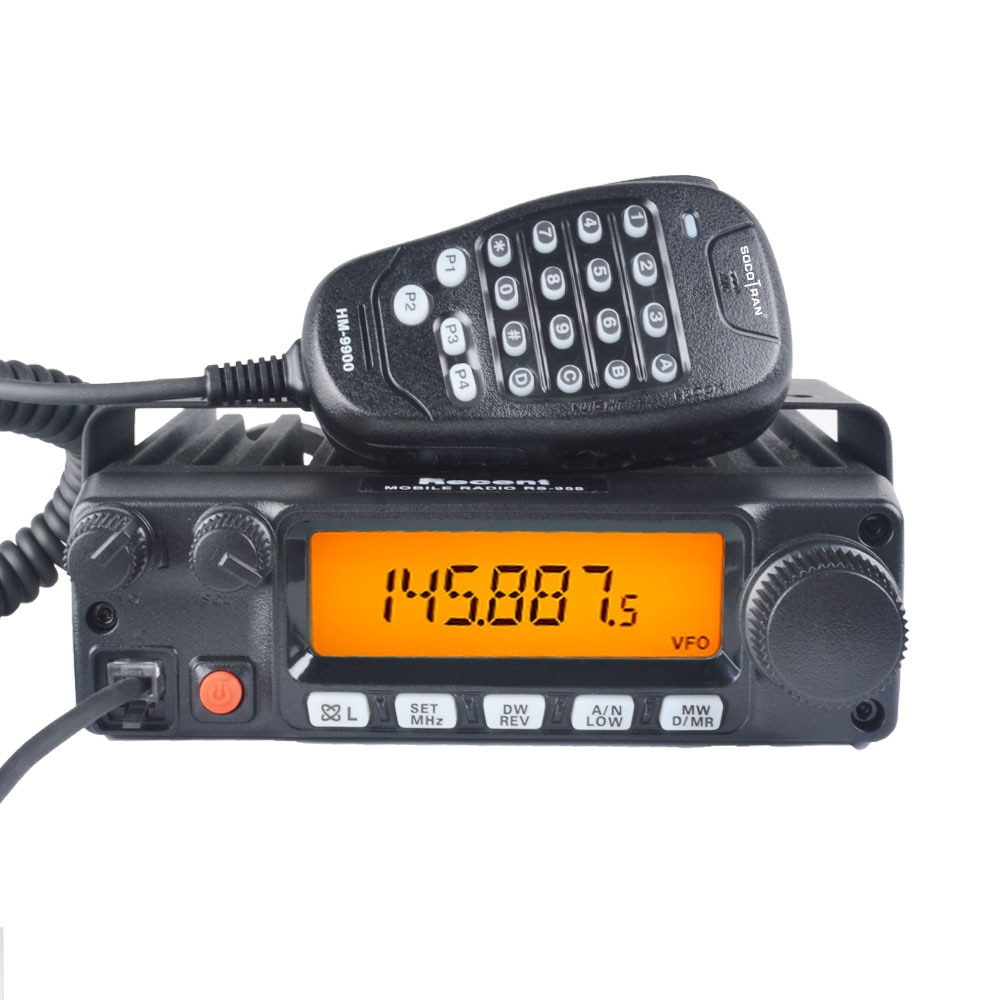Mobile Radio Car Walkie Talkie 80W High power VHF Mobile Ham Radio Transceiver Large LCD Screen Display 200 Channel Station