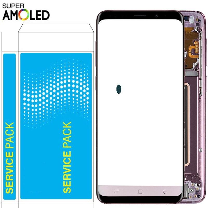 Оригинальный S9 Plus LCD для Samsung Galaxy S9 LCD с рамкой Super Amoled 2960*1440 дисплей SM-G960F G965F G960F/DS сенсорный экран