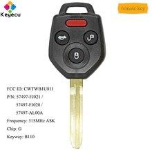 KEYECU Chiave Dellautomobile di Telecomando Con 3 + 1/4 Bottoni 433MHz di Chip G-FOB per Subaru forester Impreza WRX XV Crosstrek STI CWTWBU766
