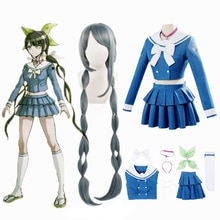Anime Danganronpa Chabashira Tenko Dress Clothing Cosplay Costumes School Women Uniforms