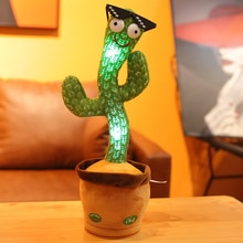 Nuovo regalo elettronico della decorazione di ballo di canto del Cactus di Dancing per i bambini giocattoli divertenti di educazione precoce giocattoli della peluche del tessuto a maglia