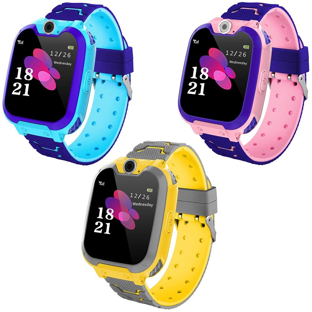 Reloj inteligente teléfono Dial pantalla táctil Cámara juego música juego reloj SOS reloj para niños reloj de posicionamiento