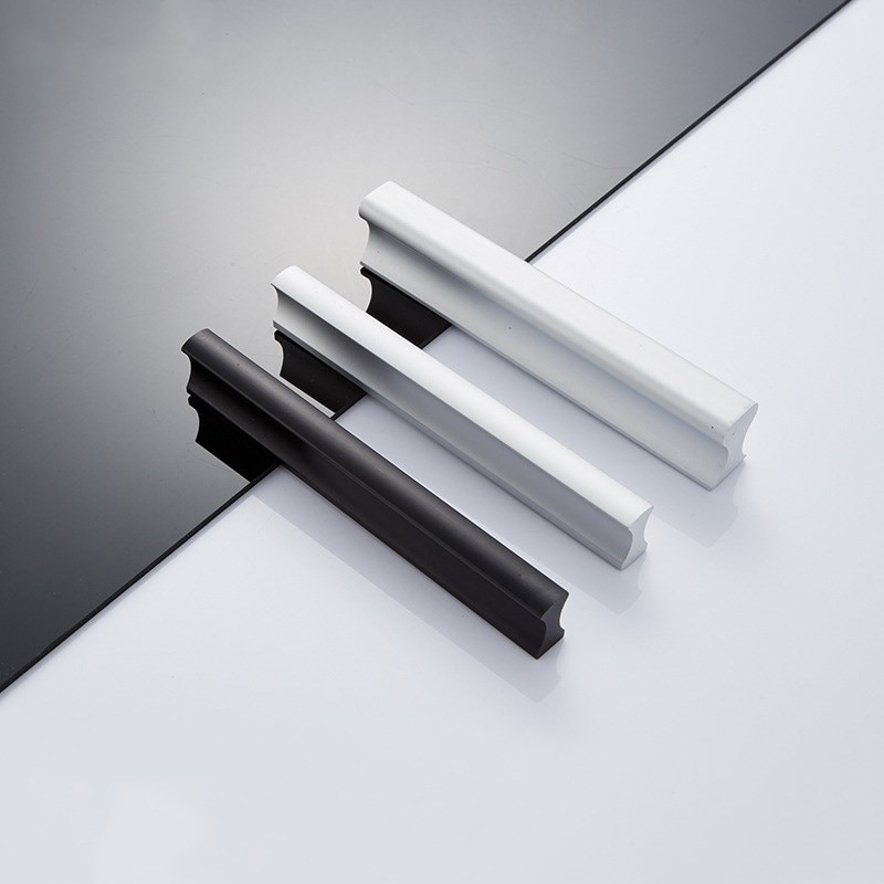 KK y FING 96-12mm moderno mango aluminio muebles Puerta de armario de cocina tira mejora Puxadores Para Moveis de Hardware