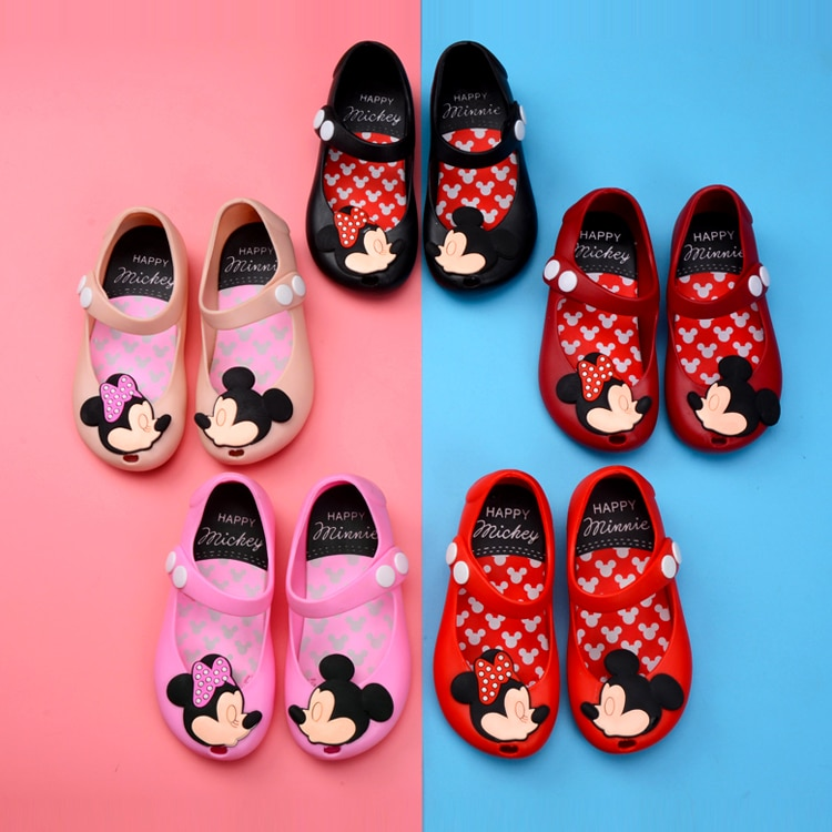 AliExpress - 2021 New Disney Summer Children's Sandals Mickey Mouse Girl Jelly Shoes Baby Minnie Princess Shoes Non-slip Beach Shoes