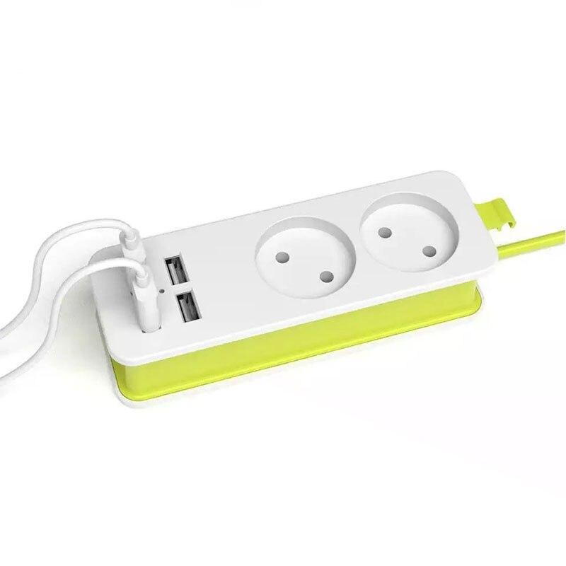 Tira de alimentación 1/2 Enchufe europeo 1200W 250 V, Cable de 1,5 m, enchufe múltiple de pared portátil 4 puertos USB para teléfonos móviles y tabletas