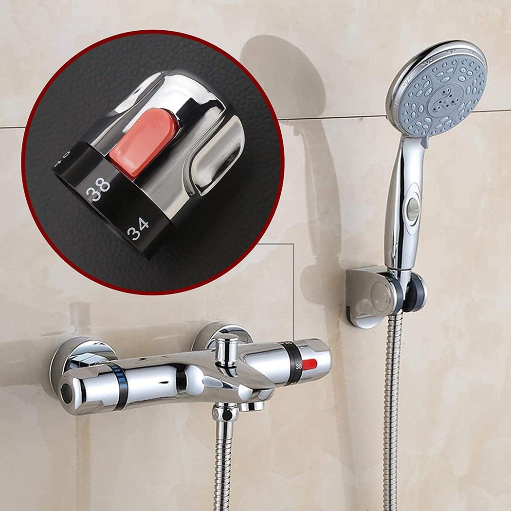 Shower System Water Thermostatic Temperature Control Handle Knob For Bathroom Mixer Taps Shower Faucet Valve Taps Hardware Tool professional brass bathroom bar mixer shower valve bar thermostatic brass chrome dual control thermostatic shower mixer valve