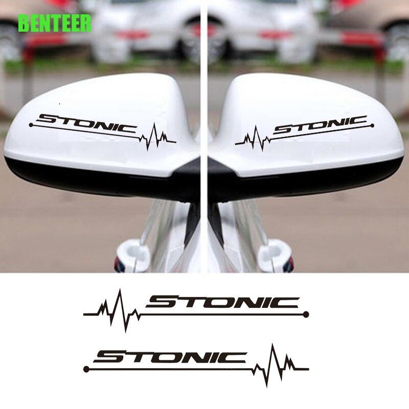 2pcs Car rearview mirror sticker for kia stonic