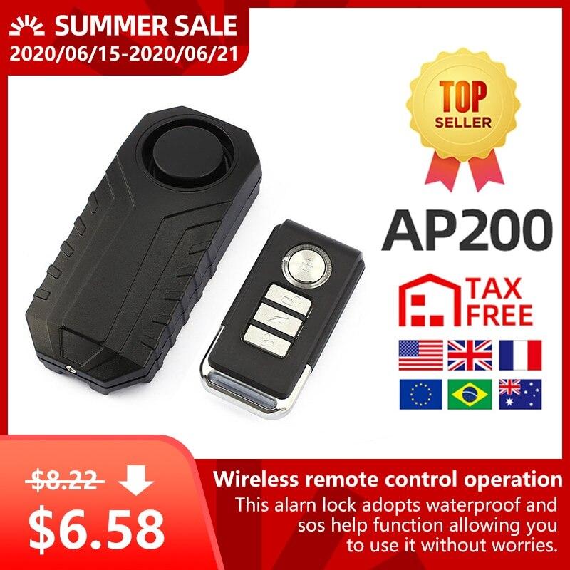 Alarme Anti-vol de velo  alarme de Vibration de porte fenetre etanche sans fil puissante de 113db  capteur Intelligent a telecommande
