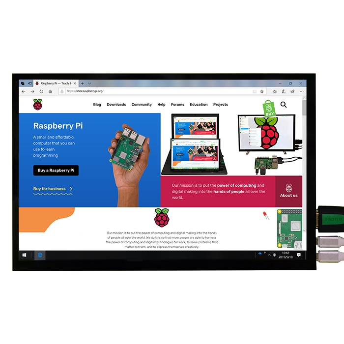 new 7 inch usb hdmi lcd display monitor capacitive touch screen holder case for raspberry pi windows jetson nano New 10.1 inch 1280x800 IPS LCD Display Monitor with Capacitive Touch Screen for Raspberry Pi 4B 3B+  Windows Android