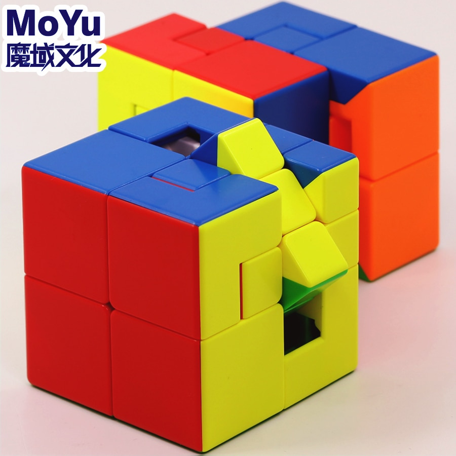 MoYu MeiLong مكعبات سحرية 3x3x3 دمية واحدة اثنين من ستيكيرليس مكعبات الفصول الدراسية لغز 3x3 دمية 1 2 لعبة تعليمية المهنية