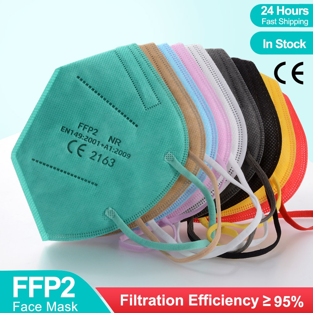 Multicolor Adult 5 Layers KN95 Fpp2 Mascarilla approved Respirator Fabric Face Mask KN95 Filter Mouth Reuseable ffp2mask CE ffp3 300pcs mascarilla ffp2 kn95 mouth mask 5 layers anti droplets protective kn95 face masks reusable filter ffp2mask ce