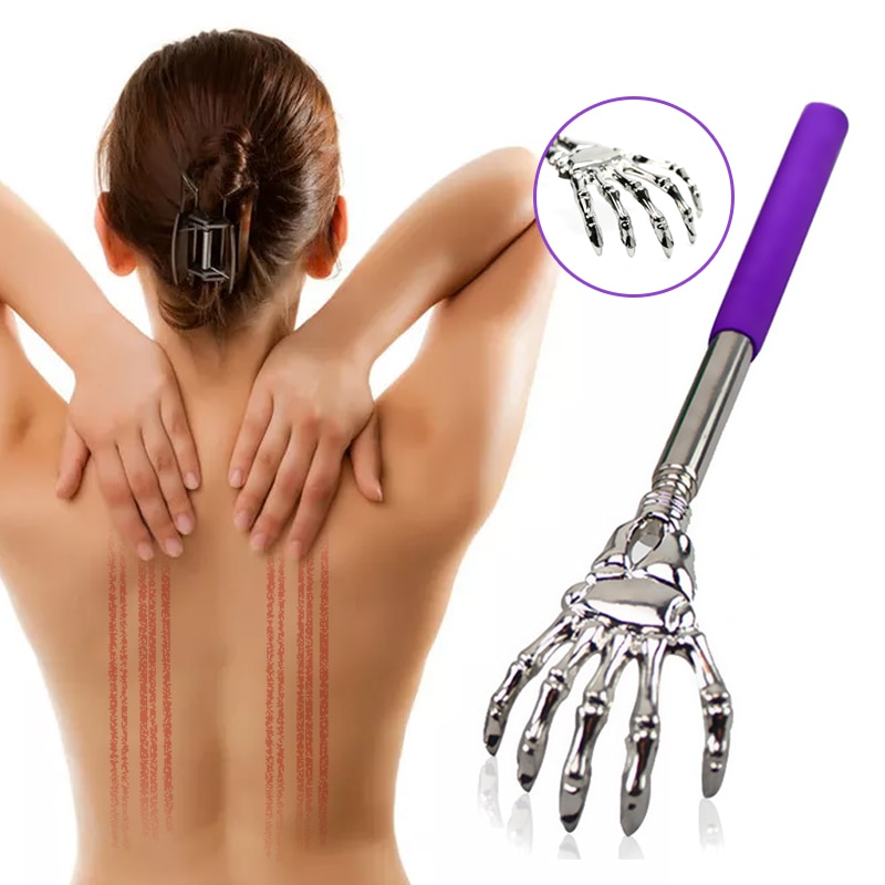Stick Scraping Back Telescopic Scratching Back Massager Kit Body Scraper Extendable Telescoping Itch