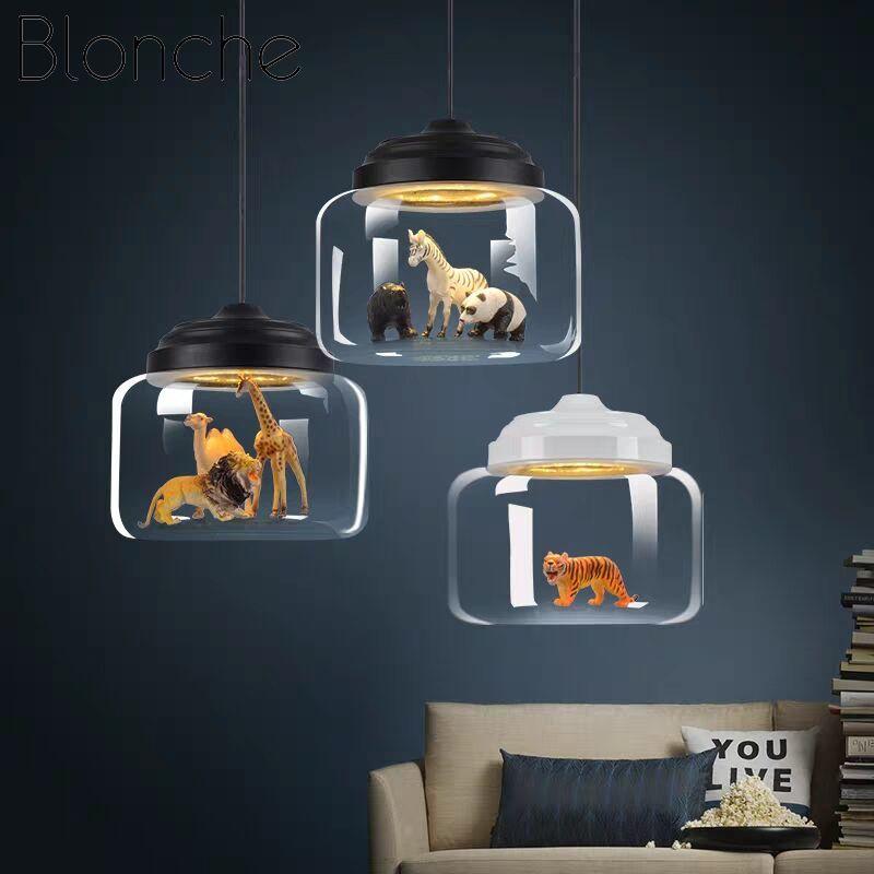 الحديثة قلادة Led أضواء الزجاج الشمال نجف يُعلق بالسقف مطعم الأطفال غرفة المعيشة غرفة نوم داخلي لطيف ديكور تركيبات مصابيح