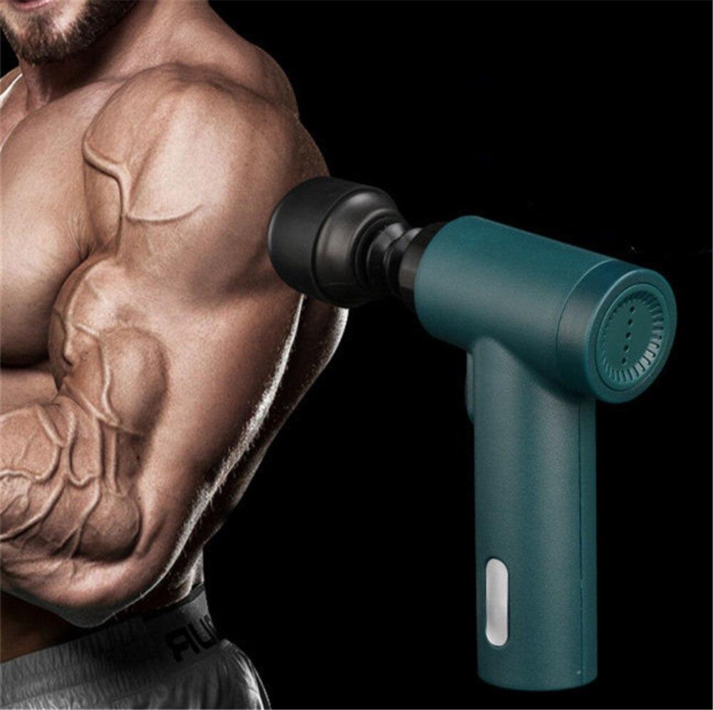 Мини-пистолет-массажер, пистолет для массажа тела, вибратор, пистолет для массажа спины, массажер для ног, Электрический массажер для фитнес...