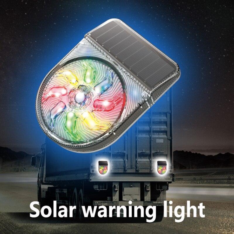 СВЕТОДИОДНАЯ беспроводная автомобильная светодиодная сигнализация s, автомобильная мигающая Предупреждение ПА на солнечной батарее, авто...