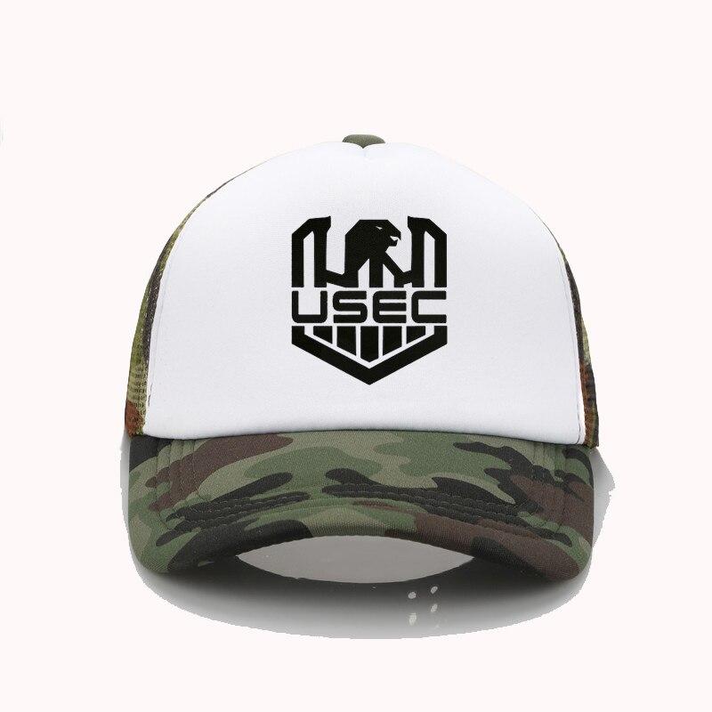 fashion hat Escape From Tarkov USEC print Baseball caps men Women cool Summer Mesh Trucker cap adjustable snapback hats
