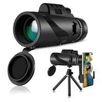powerful 80x100 hd monocular telescope phone camera zoom starscope tripod telescope phone clip for outdoor camping accessories