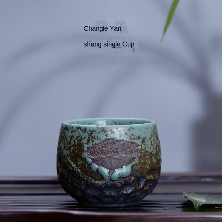 Kung Fu té taza única Taza de cerámica maestro taza de té hecho a mano Cool Vintage porcelana de té gruesa taza pequeña taza de té tazón de té tazas de té