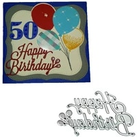 happy birthday cutting dies scrapbooking stencil for diy album paper card photo love letter decorative craft diesdc 011