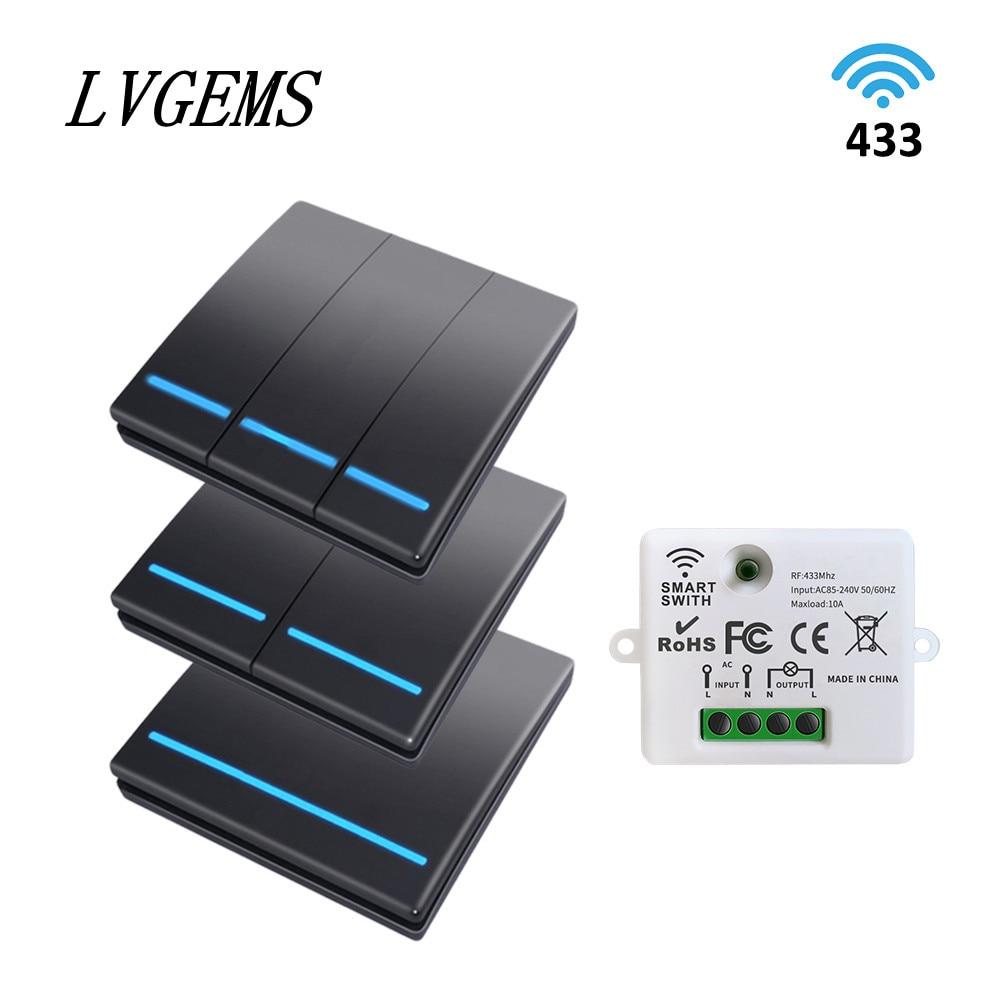 مفتاح حائط ذكي لاسلكي للتحكم عن بعد ، زر 1 ، 2 أو 3 أزرار ، جهاز تحكم عن بعد بدون أسلاك ، إشارة قوية يمكن التحكم فيها عن طريق القسم