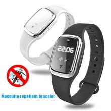 Mini Ultrasonic Anti Mosquito Insect Pest Bugs Repellent Repeller Wrist Bracelet Outdoor @M23