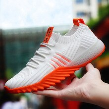 men sneakers spring and summer new running shoes Low-cut stretch mesh fabric fashion breathable coup