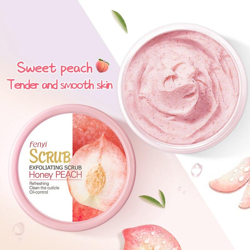 LAIKOU Peach Body Scrub Cream Face Scrub Deep Cleansing Skin Whitening Go Cutin Dead Skin Treatment Acne Moisturizing Body Care недорого