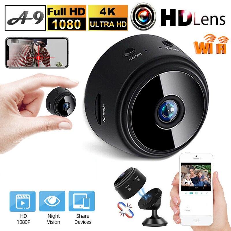 Mini Wifi A9 IP Camera HD 1080P Wireless Indoor Camera Two Way Audio Baby Monitor Home Security P2P Camera WiFi