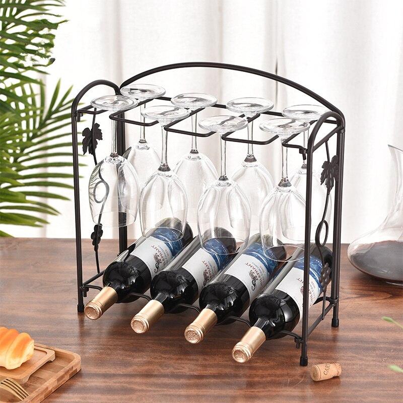 كأس للنبيذ مقصورة حوامل ستيمواري النبيذ المنظم الزجاج حامل نظارات تخزين شماعات المعادن المنظم لشريط المطبخ 4-8 أكواب