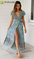 the a line skirt spring summer short sleeved elegant ladies elastic waist slim and sexy clothes leisure vacation print dress