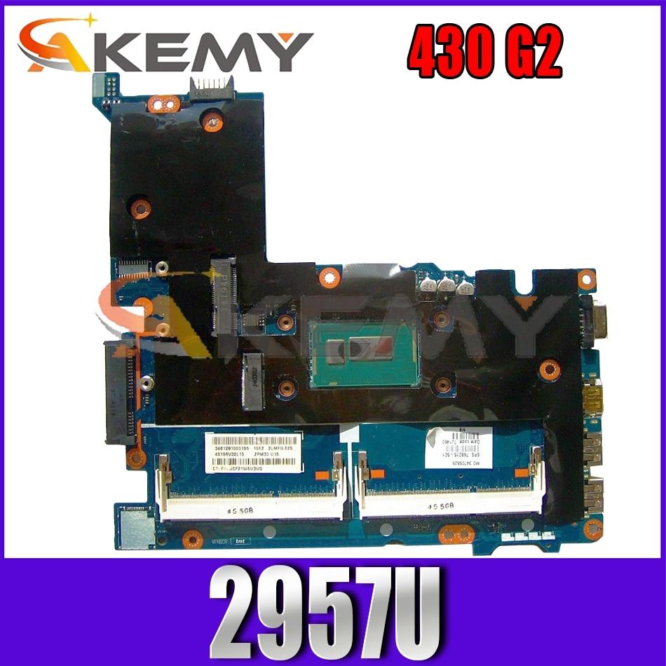 ل HP Probook 430 G2 LA-B171P 774515-001 SR1DV سيليرون 2957U دفتر اللوحة الرئيسية اختبار كامل 100% العمل