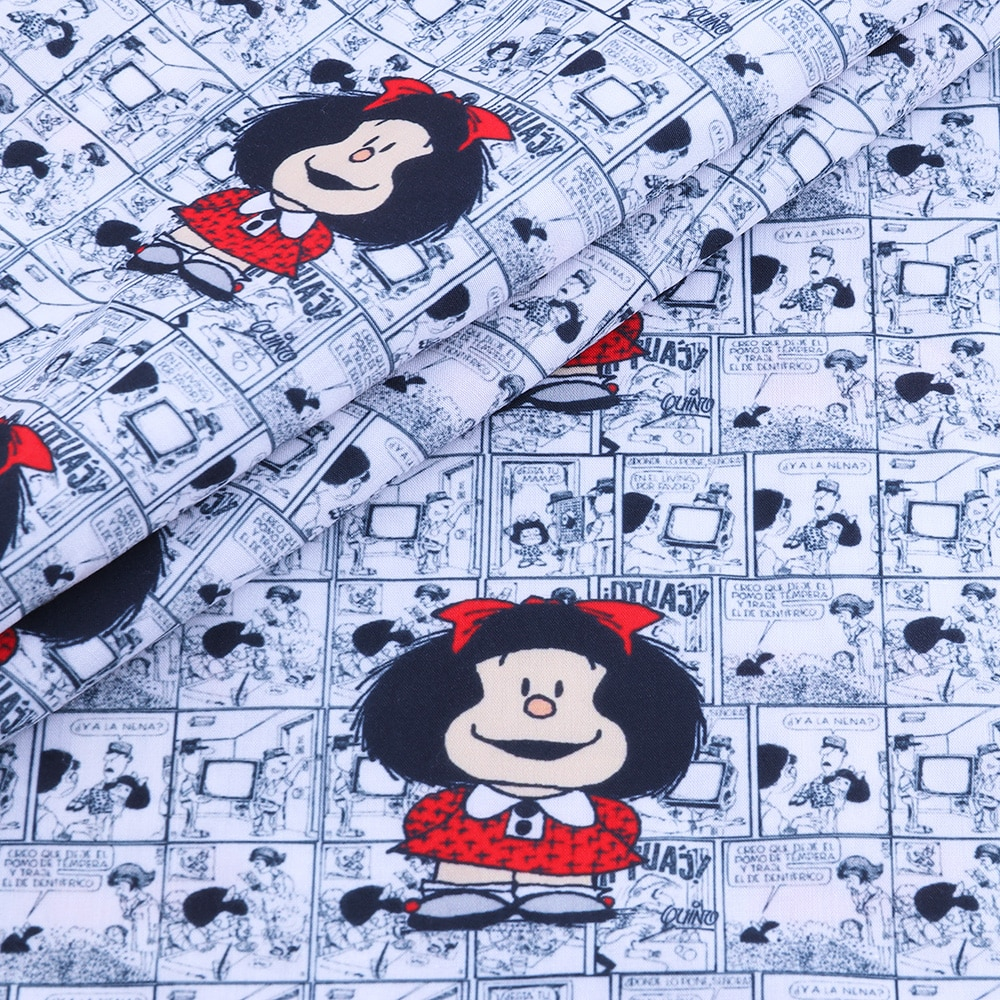 50*140CM Cartoons pattern Polyester cotton Fabric Patchwor Printed for Tissue Kids Home Textile for Sewing Doll Dress Curtain