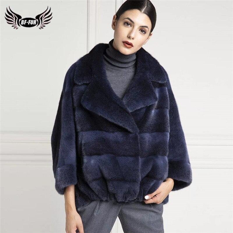 BFFUR الفراء الطبيعي معاطف للنساء 2021 الشتاء موضة ريال فرو منك معطف امرأة معاطف فاخرة عالية الجودة فرو سترات Gneuine
