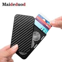 maideduod 2020 new card holder men purse carbon fiber minimalist rfid wallet for credit cards bank business id card holder case