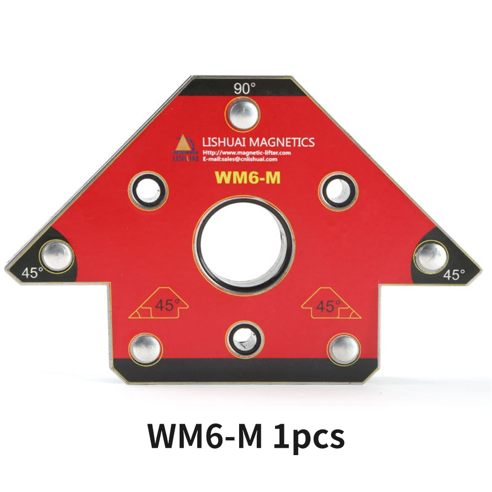 1 Pcs Strong Magnetic corner Welding Holder non-perforated Neodymium NdFeB magnet for welding Arrow Positioner Locator WM6-M