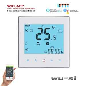 2p 4p TUYA Wifi Thermostat Temperature Controller for heating and cooling,0-10V regulated output,95-240VAC