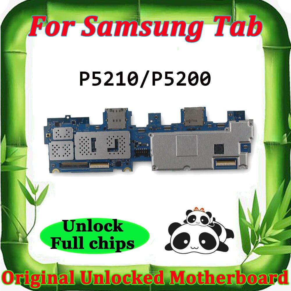 Placa base desbloqueada para Samsung Galaxy Tab 3 10,1 P5210 P5200 P5220, placa lógica para tableta WLAN, placa base celular Android OS