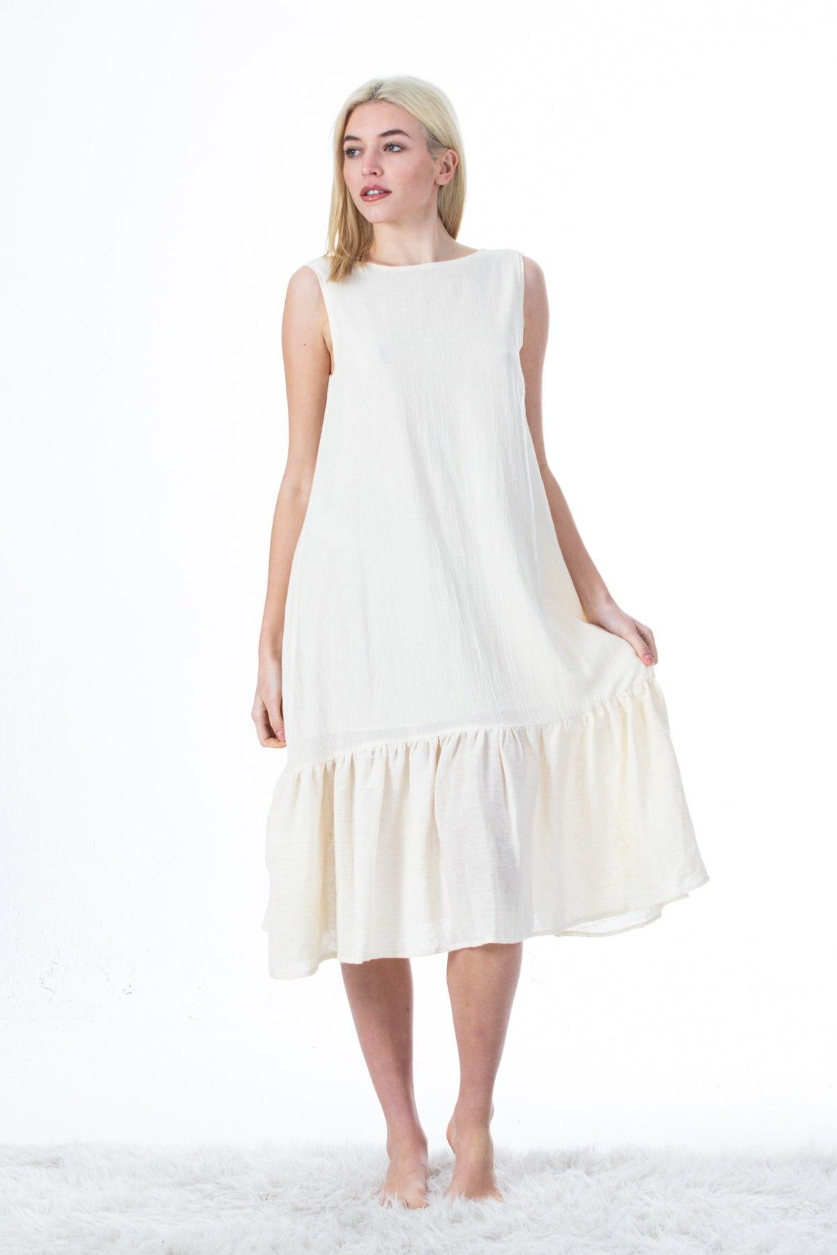 فستان نسائي خاص 100% مصنوع من القطن العضوي الانكليزي فستان شيلا عتيق بتصميم بوهيمي عتيق