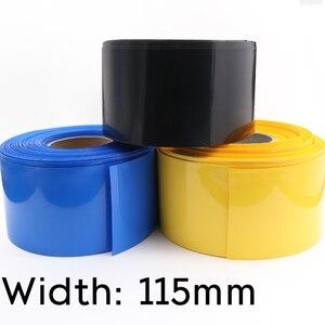 ПВХ термоусадочная трубка шириной 115 мм, диаметром 73 мм, изолированная пленка для литиевого аккумулятора, защитный чехол, цветная оболочка для провода и кабеля