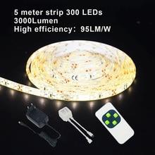 Yoluxzm Led Strip Licht Smd 2835 Warm Wit 300 Leds Waterdichte Dimbare Led Light Tape Lint 5 M 10 M 15 M 20 M 30 M Flexibele Lights