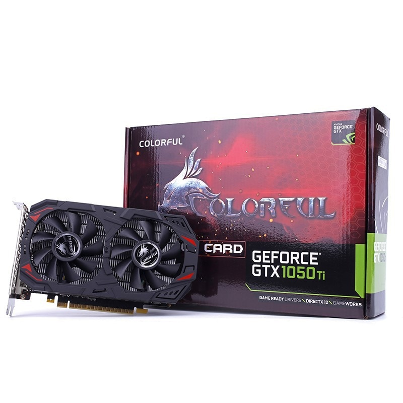 Suitable for colorful GeForceGTX1050Ti smart shark 4G desktop computer office game eating chicken graphics card Video card GPU