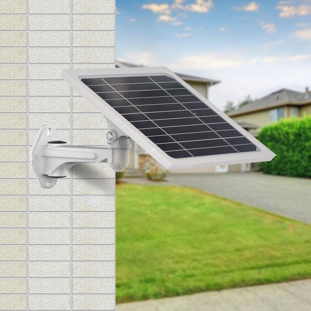 لوحة بطارية شمسية خارجية مع ضوء GPS ، جرس باب مع لوحة شحن 5 وات للمنزل أو الفناء