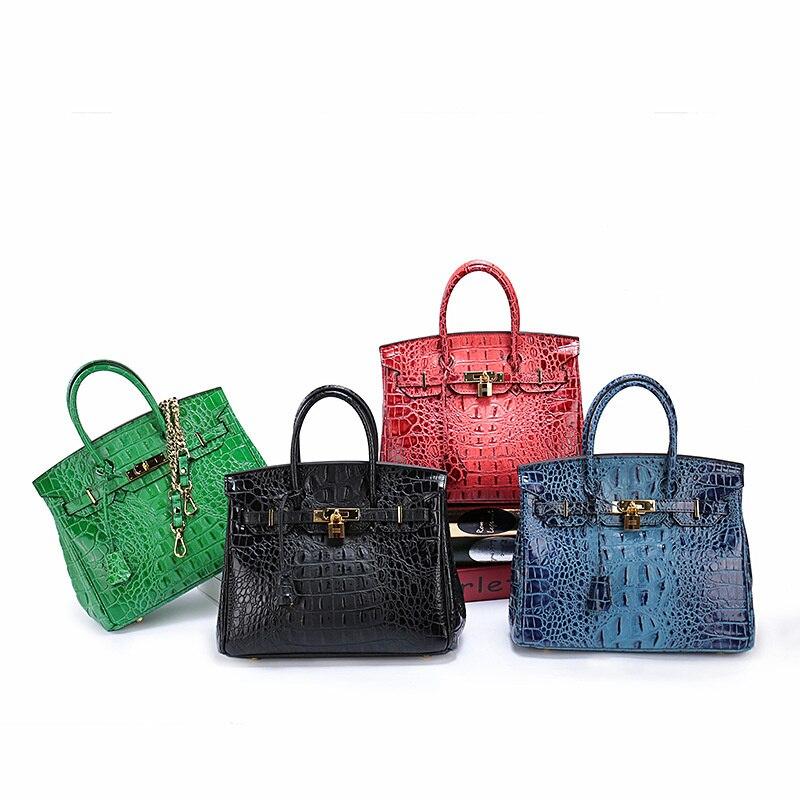 حقيبة جلد نسائية موضة جديدة حقيبة التمساح حقيبة يد نسائية