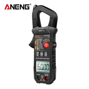 Digital Clamp Meter AC/DC Current Clamp True-RMS Multimeter Auto-Ranging Multi Tester with Amp Volt Ohm Resistance Capacitance